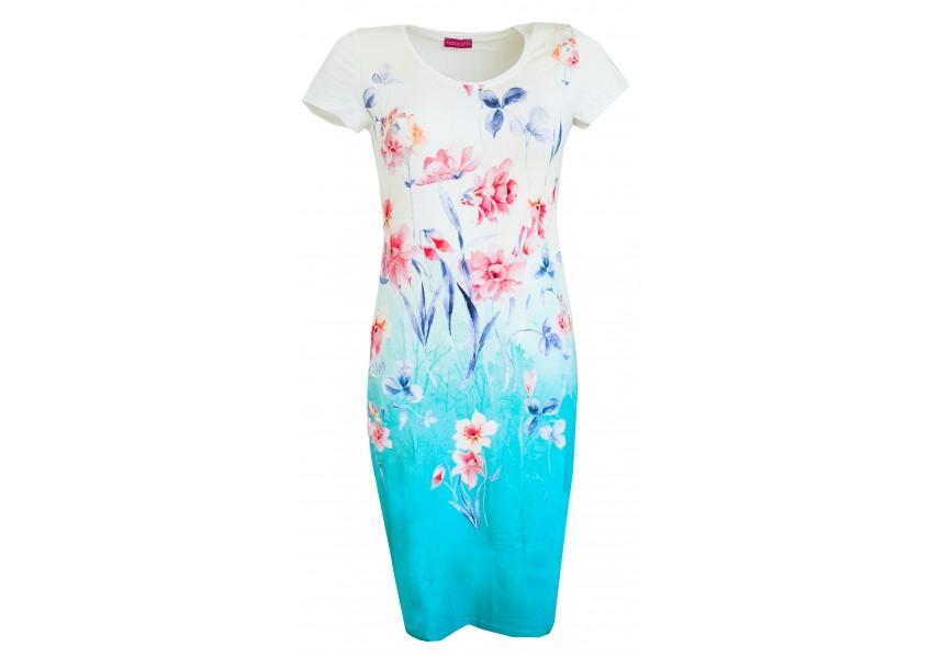 Šaty s krásným letním tiskem