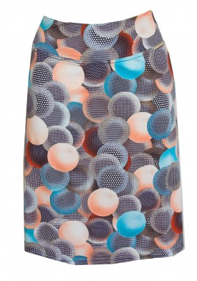Krátká sukně s modrými  koly