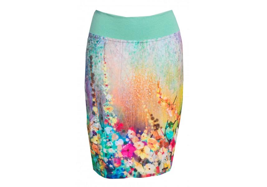 Úzká sukně s letním vzorem