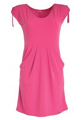 Růžové šaty s kapsami