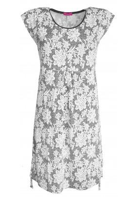 Modro-bílé letní šaty