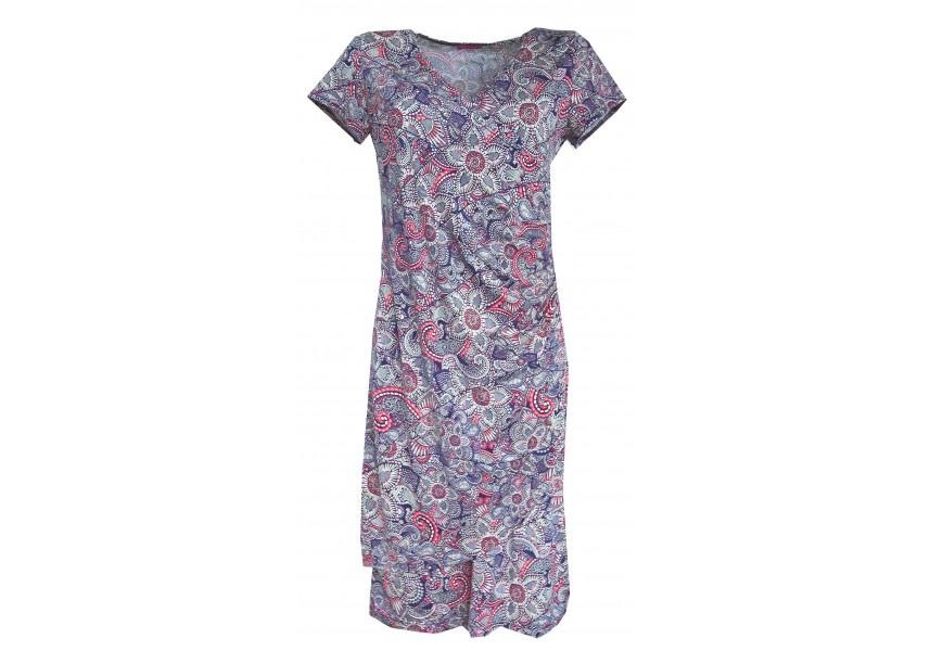 Barevné šaty s dvojitým předním dílem