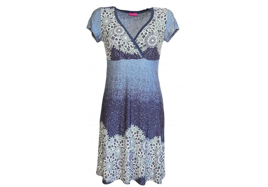 Letní šaty s otevřeným výstřihem
