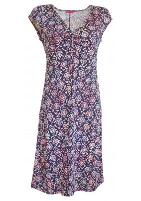 Letní šaty s tkaničkou ve výstřihu