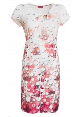 Šaty s růžovým tiskem