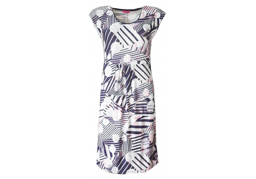 Letní šaty s geometrickým vzorem