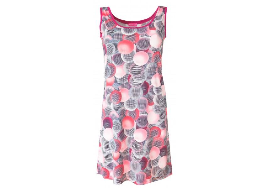 Plážové šaty s růžovým vzorem