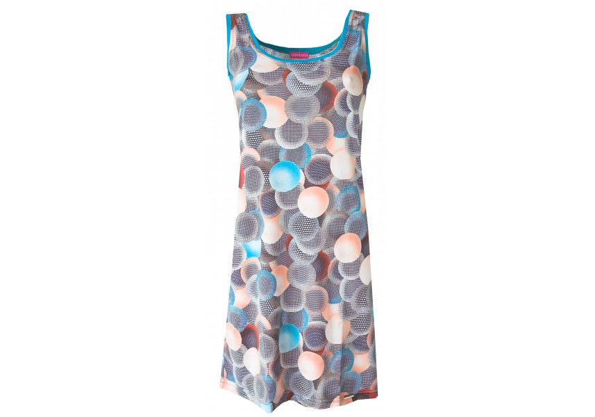 Plážové šaty s modrým vzorem