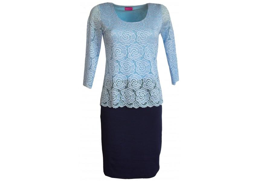 Šaty s krajkovým vrchním dílem