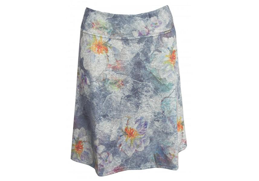 Teplejší krátká sukně s květy