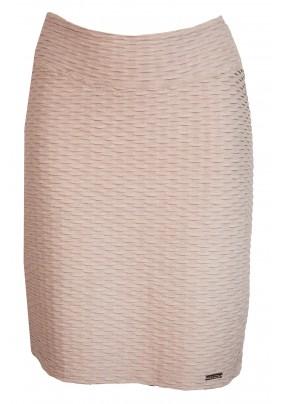 Světlá sukně s plastickým vzorem