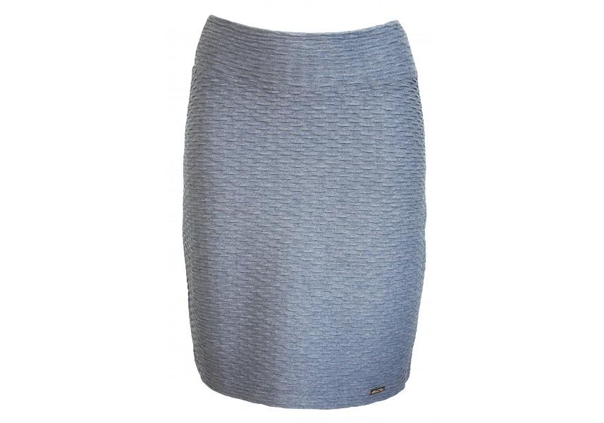 Modrá sukně s plastickým vzorem