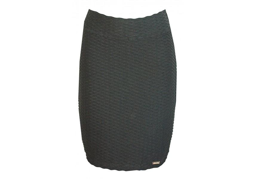 Černá sukně s plastickým vzorem