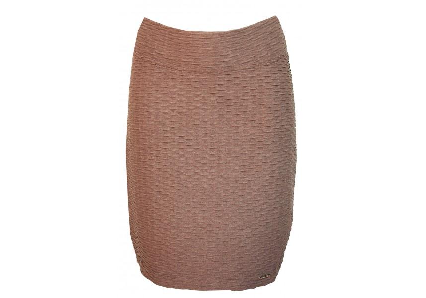 Hnědá sukně s plastickým vzorem