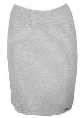 Šedá sukně s plastickým vzorem