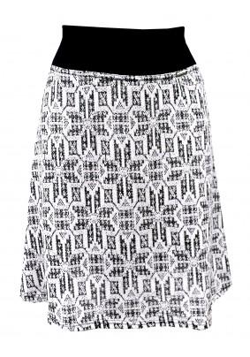 Černo bílá sukně s leskem