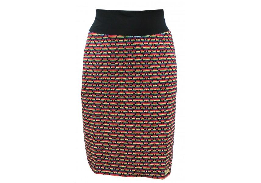 Barevná podzimní sukně