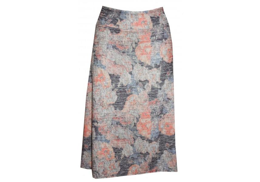 Teplá sukně v pastelových barvách