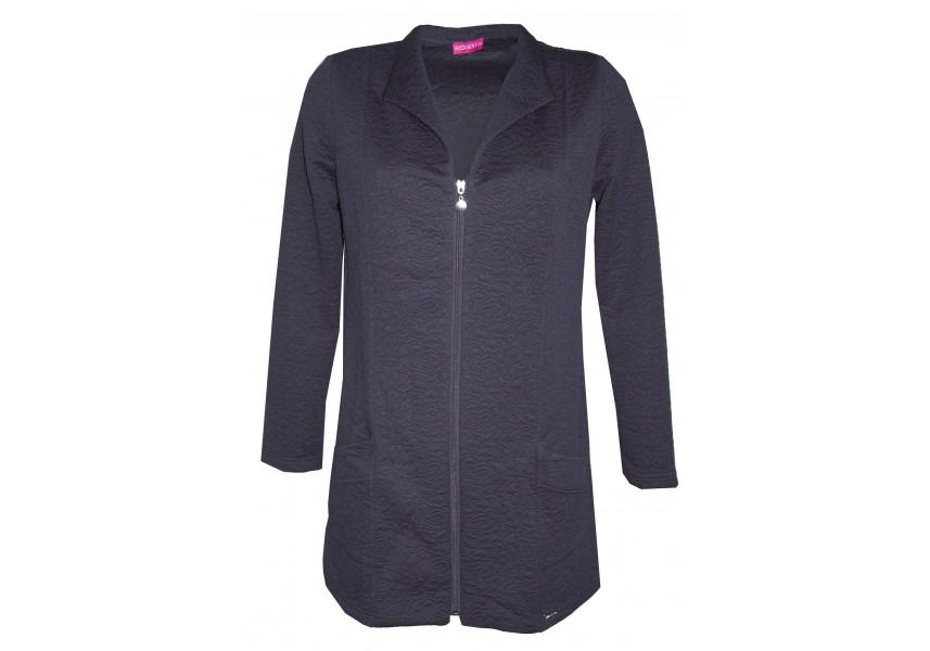 Tmavě modrý kabátek na zip