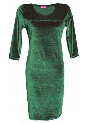 Zelené sametové šaty