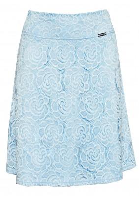 Krajková světle modrá sukně