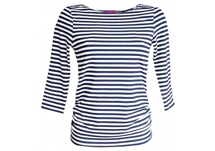 Modro bílé pruhované triko