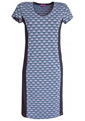 Dámské šaty s růžovo černým vzorem