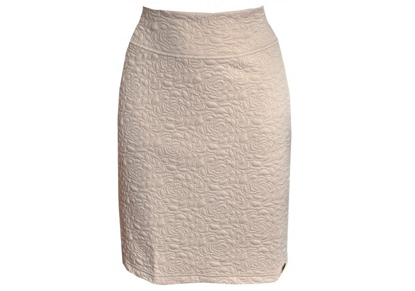 Úzka béžová sukně