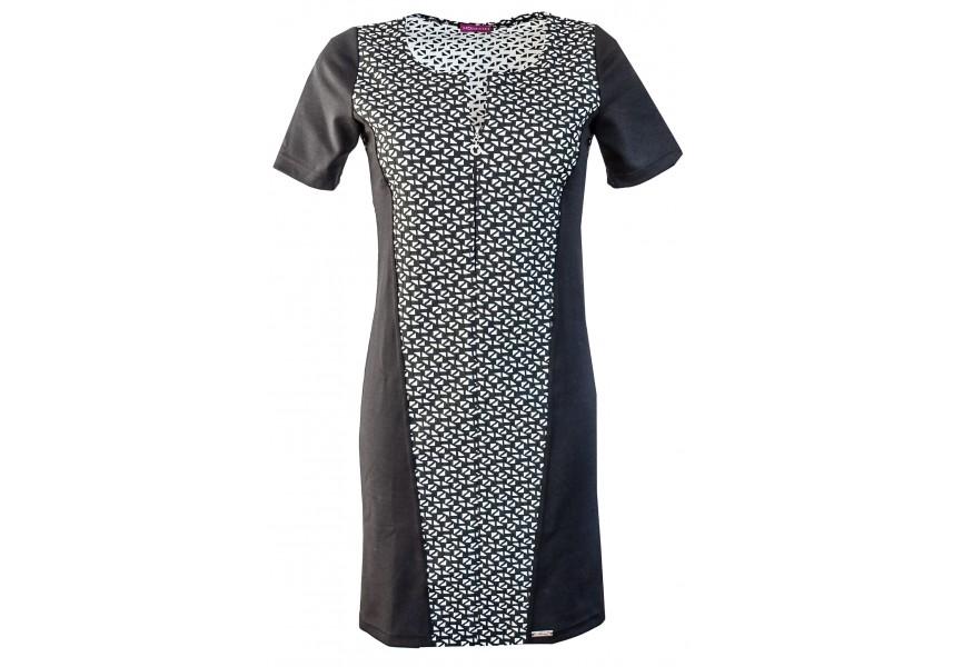 Černo bílé šaty na jaro
