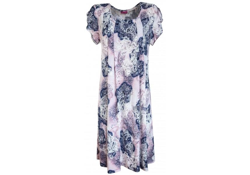 Volné letní šaty větších velikostí