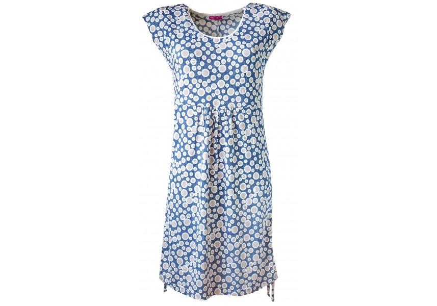 Letní šaty v džínové barvě