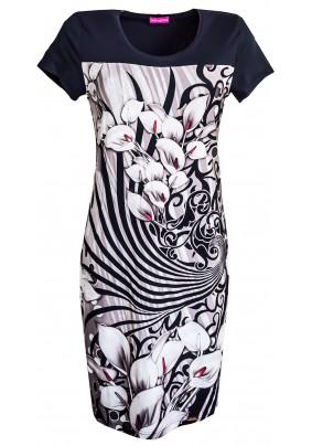 Jarní barevné šaty se sedlem