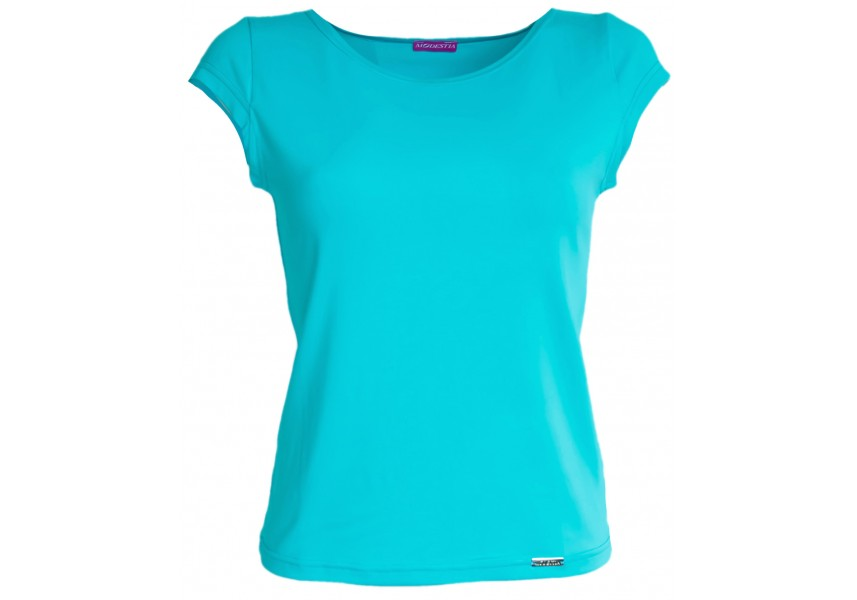 Středně modré triko s krátkým rukávem