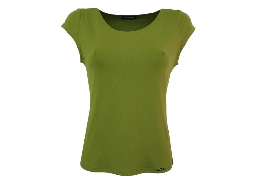 Olivově zelené triko s krátkým rukávem