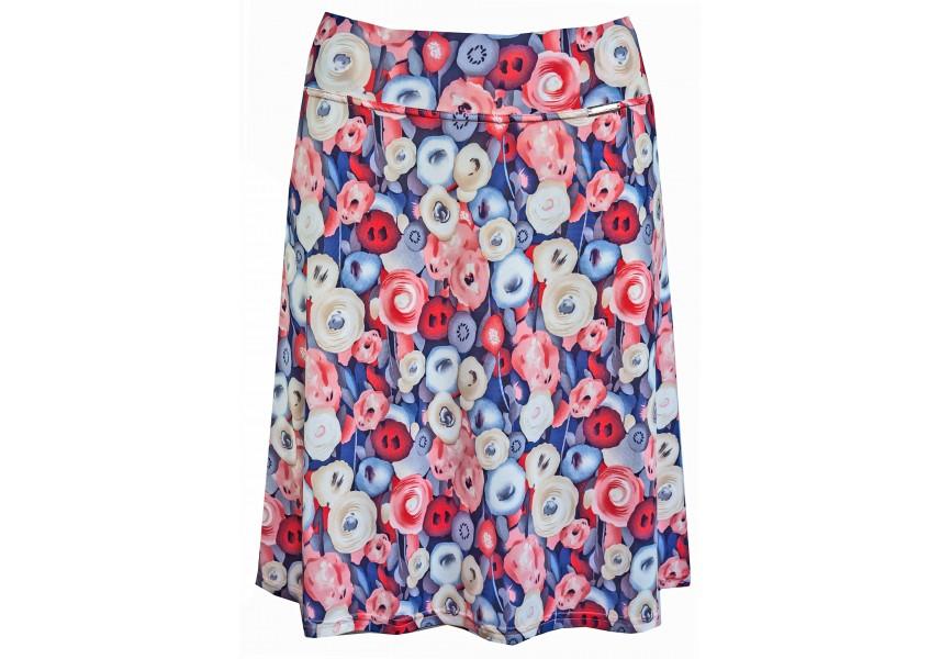Letní sukně s tiskem květů