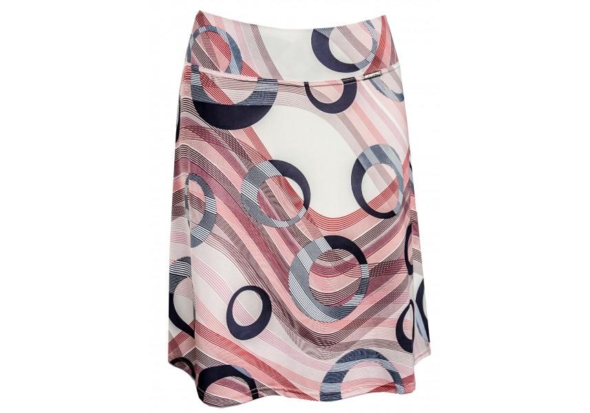 Letní sukně s geometrickým tiskem