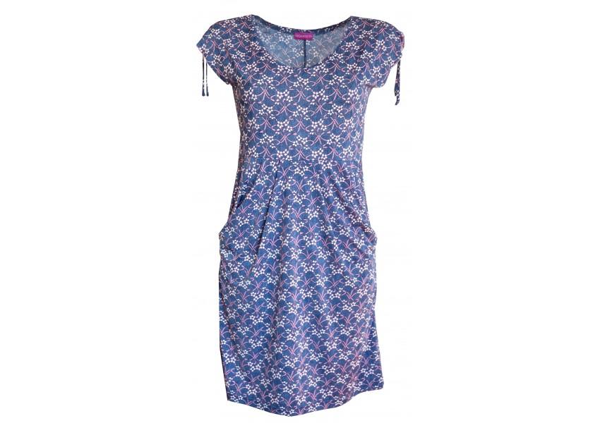 Letní šaty s kapsami s tiskem kvítků
