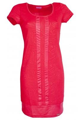 Červené elegantní šaty s krátkým rukávem