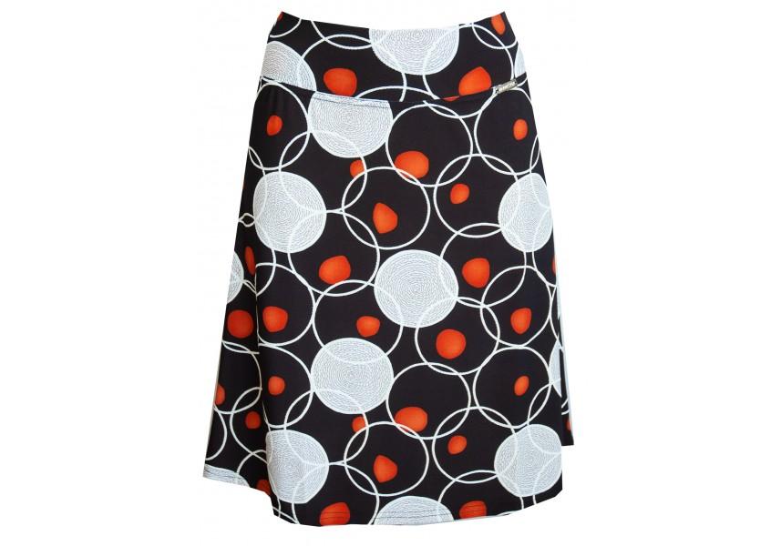 Černá sukně s oranžovými koly