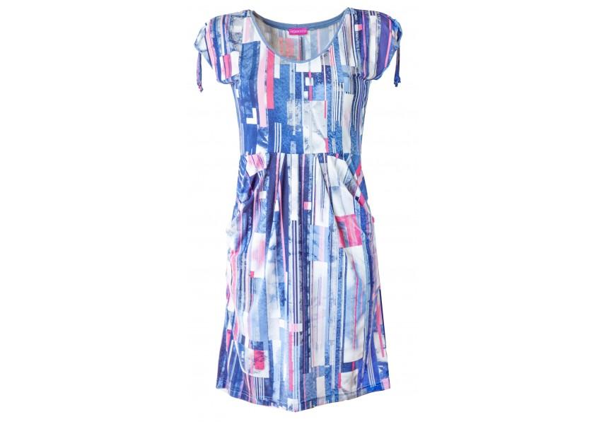 Letní krátké šaty s kapsami