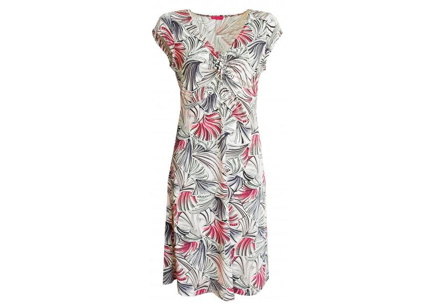 Světlé letní šaty se vzorem