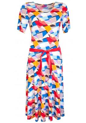 Delší barevné letní šaty