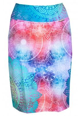 Rúžovo tyrkysová sukně