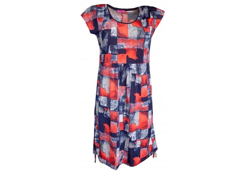 Letní červeno modré šaty