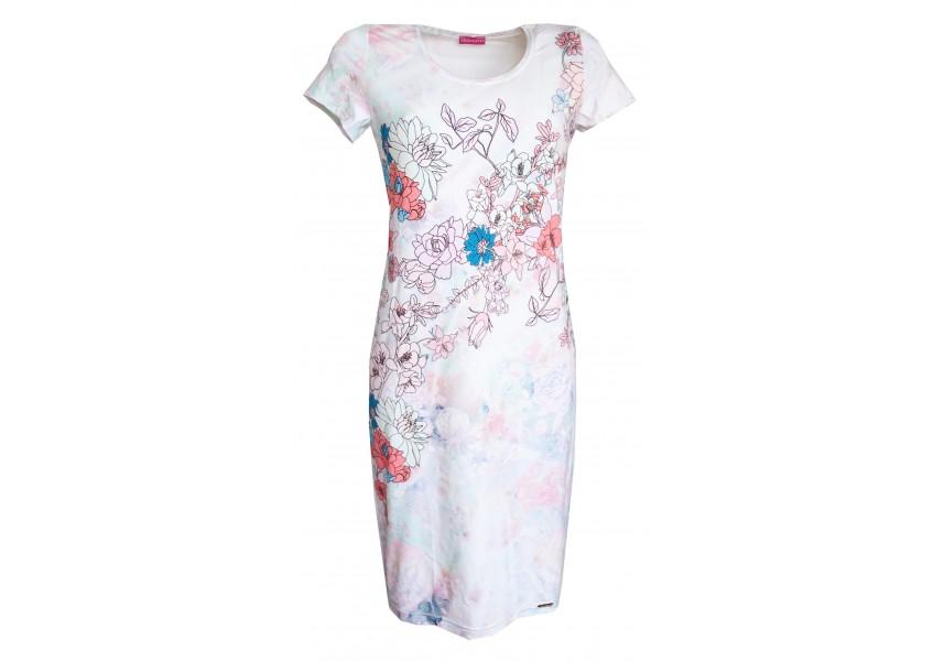 Světlé úzké šaty