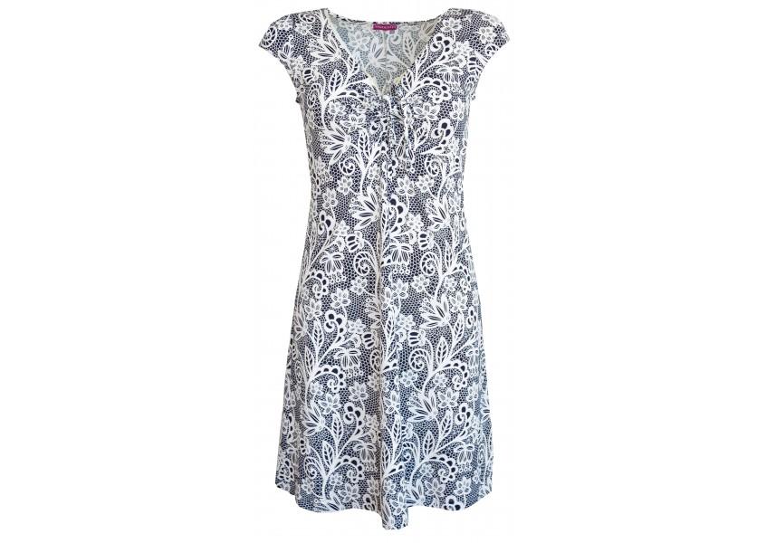 Letní modro bílé šaty