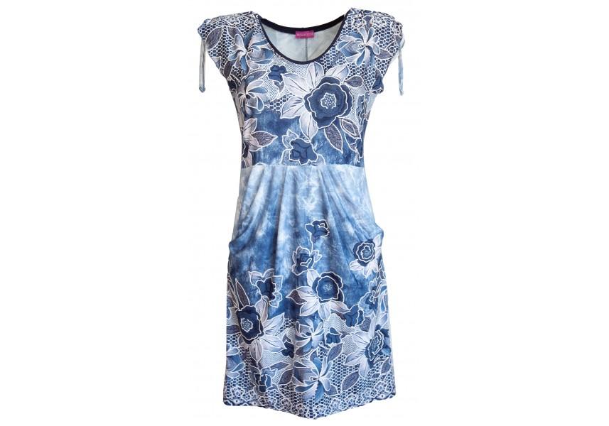 Letní šaty se skládanými kapsami