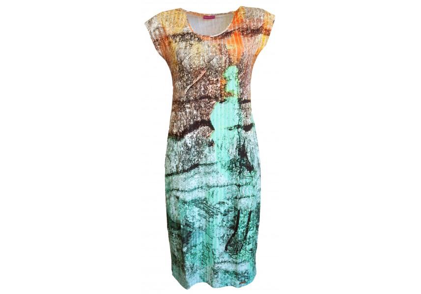 Úzké šaty s tiskem