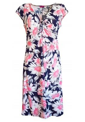 Letní šaty s růžovými květy