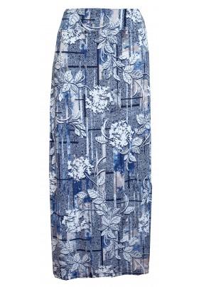 Dlouhá modro bílá letní sukně